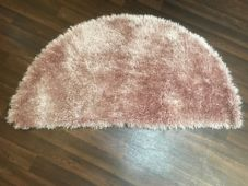 HALF MOON SHAGGY RUGS 60CMX120CM GOOD QUALITY NEW SUPER THICK PILE DUSKY PINK